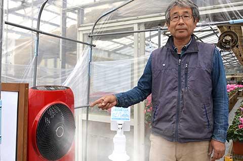 銀イオンを含んだミストを噴霧する装置